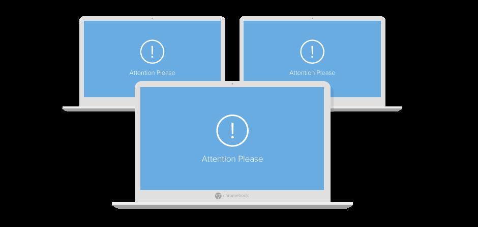 chrome classroom management blank screens