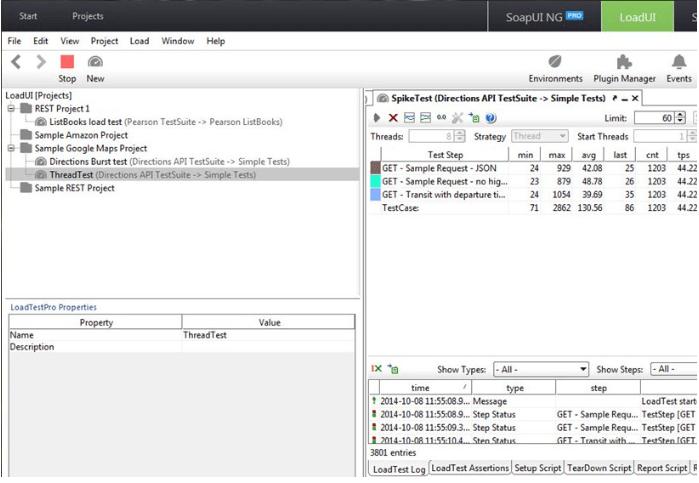 LoadUI NG Pro - Parallel Load Testing