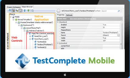 TestComplete Mobile Automated Testing Tools