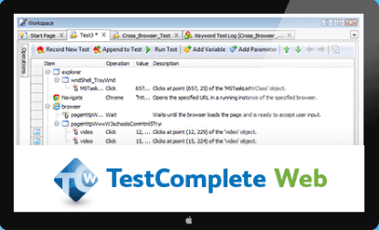 TestComplete Web Application Testing